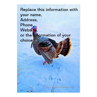 Turkey in Snow 5 Large Business Card