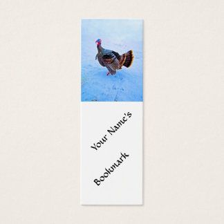 Turkey in Snow 5 Mini Business Card