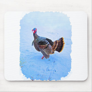 Turkey in Snow 5 Mouse Pad