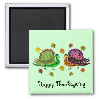 Turkey in the Fall Leaves Magnets