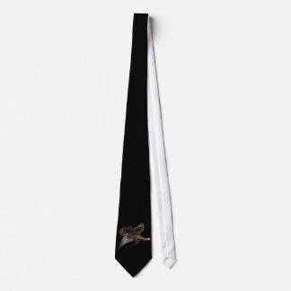 Turkey InFlight on Black Neck Tie