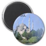Turkey Istanbul Blue Mosque (St.K) 2 Inch Round Magnet