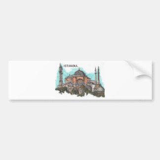 Turkey Istanbul Hagia Sophia (by St.K) Car Bumper Sticker