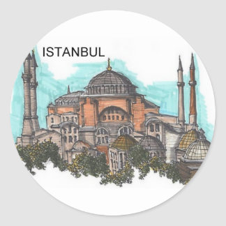 Turkey Istanbul Hagia Sophia (by St.K) Classic Round Sticker