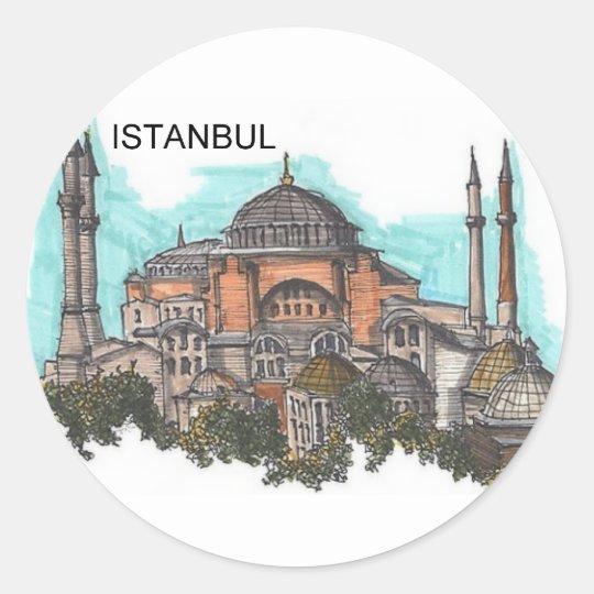 Turkey Istanbul Hagia Sophia (by St.K) Classic Round Sticker