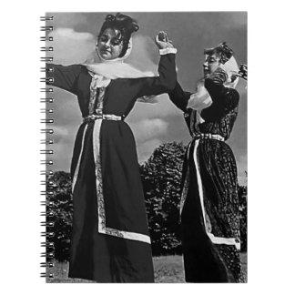 Turkey Istanbul traditional turkish dance 1970 Spiral Note Book