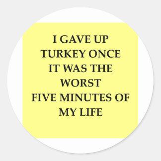 TURKEY.jpg Classic Round Sticker