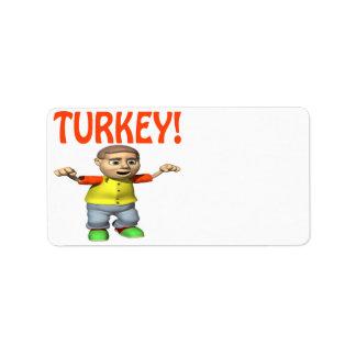 Turkey Address Label