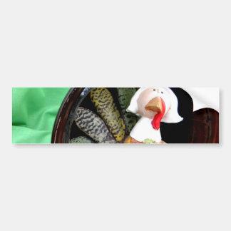 Turkey Lady Bumper Sticker