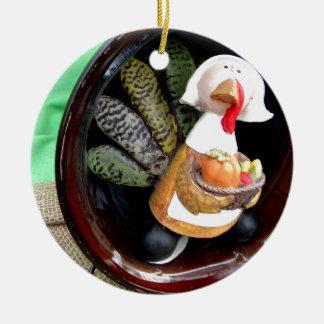 Turkey Lady Christmas Ornament