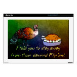 """Turkey Lament Decals For 17"""" Laptops"""
