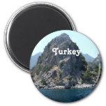 Turkey Landscape 2 Inch Round Magnet