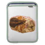 turkey leg and meat on red white platter iPad sleeves