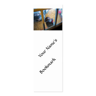 Turkey looking in door Double-Sided mini business cards (Pack of 20)