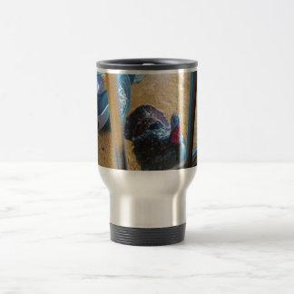 Turkey looking in door mug