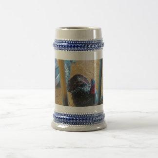 Turkey looking in door mugs