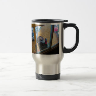 Turkey looking in door coffee mug