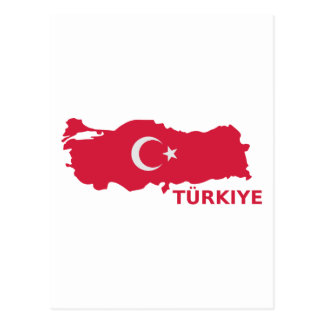 Turkey map flag Türkiye Postcard