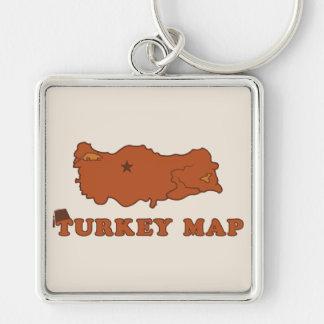 Turkey Map Key Chain