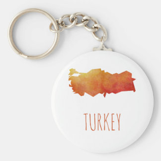 Turkey Map Keychain