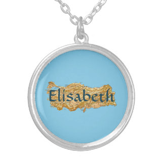 Turkey Map + Name Necklace