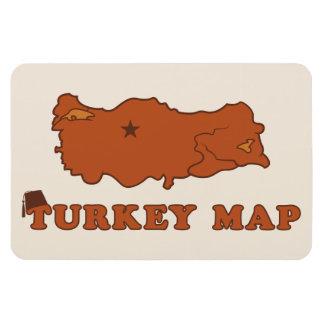 Turkey Map Rectangular Photo Magnet