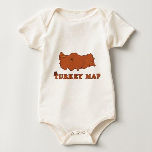 Turkey Map Romper