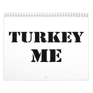 Turkey Me Calendar