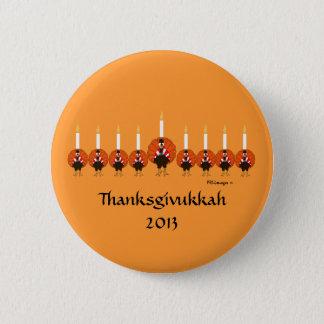 Turkey Menorah Thanksgivukkah Button