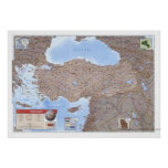 Turkey & Middle East Map 2002 Poster