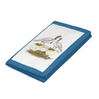 Turkey Mini White Family Tri-fold Wallet