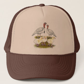 Turkey Mini White Family Trucker Hat