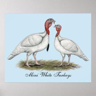 Turkey Mini Whites Poster