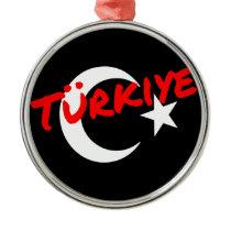 Turkey moon sickle and star metal ornament