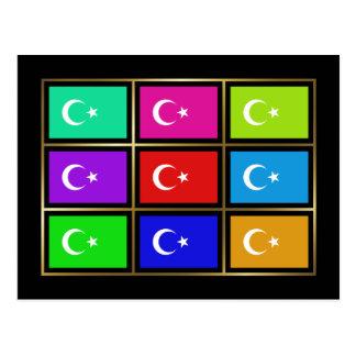 Turkey Multihue Flags Postcard