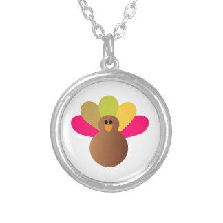 Turkey Round Pendant Necklace