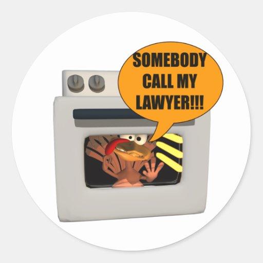 Turkey Need Lawyer Round Stickers Zazzle
