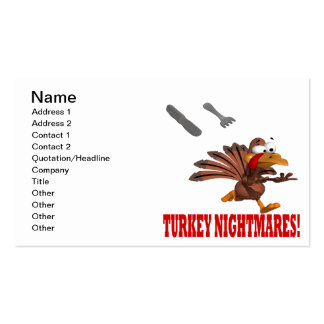 Turkey Nightmares Double-Sided Standard Business Cards (Pack Of 100)