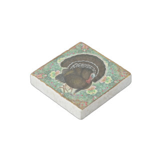 Turkey On the Greens Stone Magnet