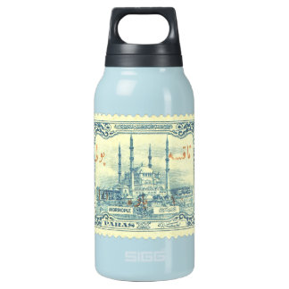turkey ottoman empire stamp vintage - blue & white thermos bottle