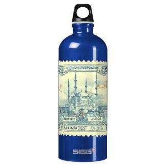 turkey ottoman empire stamp vintage - blue & white water bottle