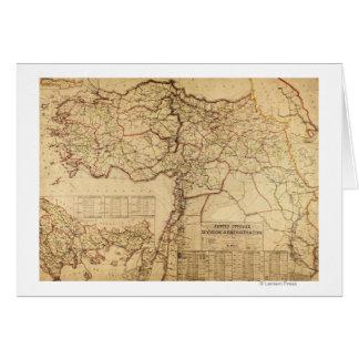 Turkey, Ottoman EmpirePanoramic MapTurkey Greeting Card