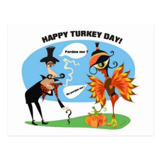 Turkey Pardon Day Postcard