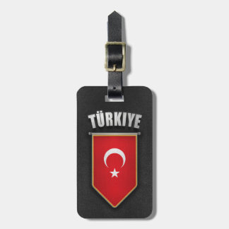 Turkey Pennant with high quality leather look Bag Tag