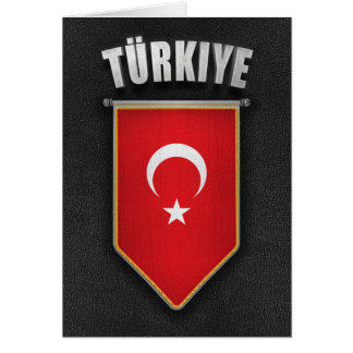 Turkey Pennant with high quality leather look Card
