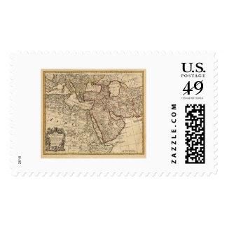 Turkey Persia Arabia Map - 1721 Stamp