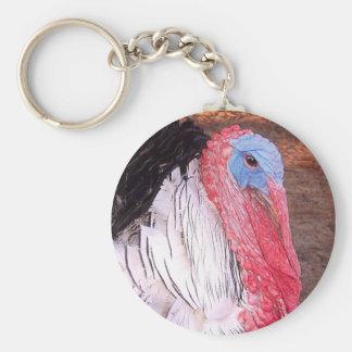 Turkey Photo Basic Round Button Keychain