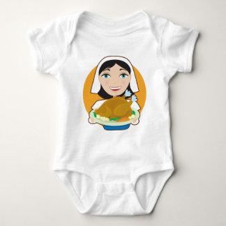 Turkey Pilgrim Baby Bodysuit