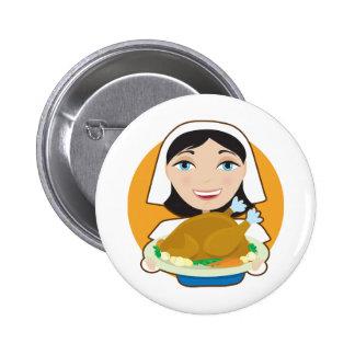 Turkey Pilgrim Button