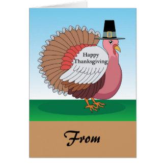 Turkey Pilgrim Card